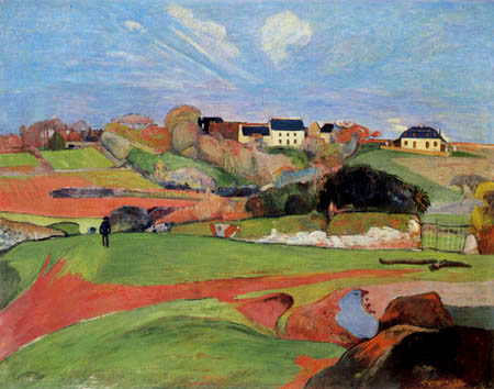 Paul Gauguin - Fields near Le Pouldu