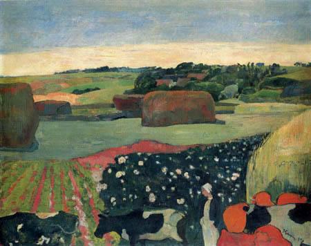 Paul Gauguin - Heuhaufen in der Bretagne