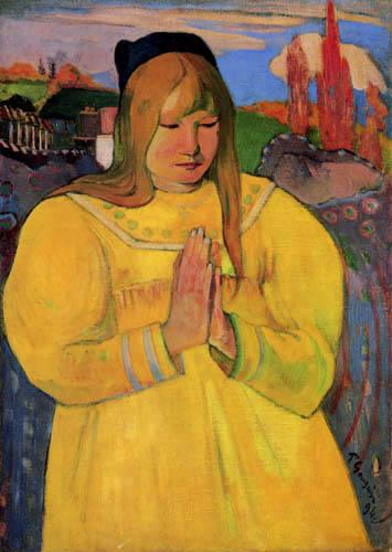 Paul Gauguin - A praying woman