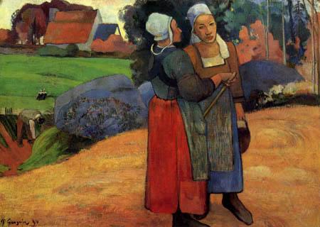 Paul Gauguin - Two Breton Peasant Women