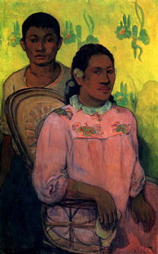 Paul Gauguin - Woman and boy in Tahiti