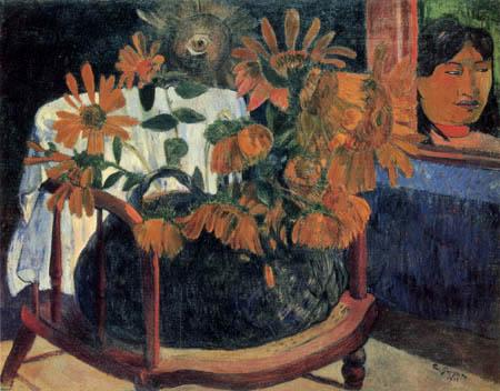 Paul Gauguin - Sonnenblumen auf einem Lehnstuhl