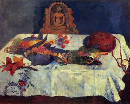 Paul Gauguin - Stillleben mit Papagei