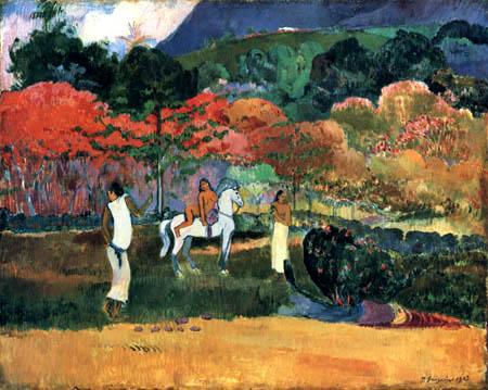 Paul Gauguin - Women and grey horse