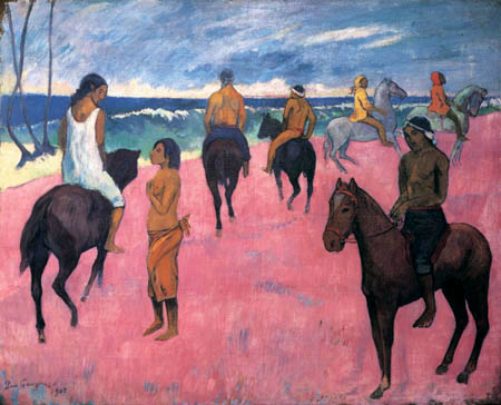 Paul Gauguin - Reiter am Strand