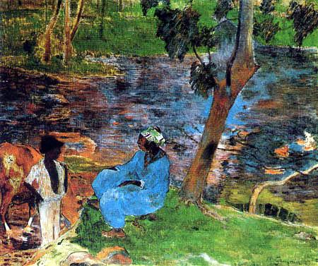 Paul Gauguin - Am Teich