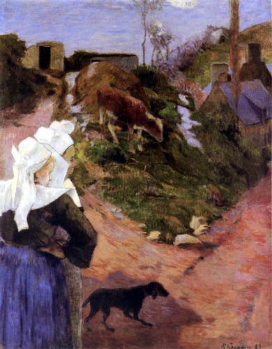 Paul Gauguin - Bretoninnen mit Kalb