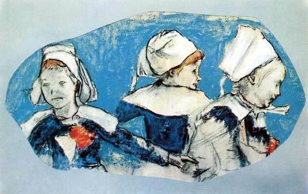 Paul Gauguin - Bretonische Mädchen beim Tanz