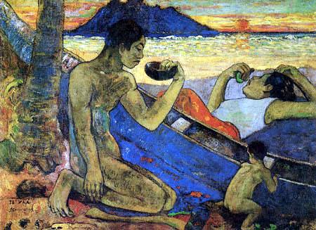 Paul Gauguin - Der Einbaum