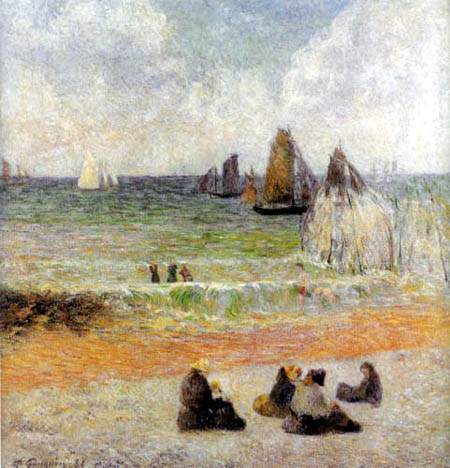 Paul Gauguin - Der Strand in Dieppe