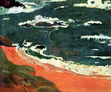 Paul Gauguin - Der Strand von Le Pouldu