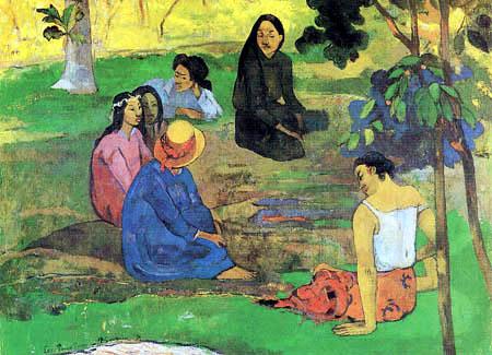 Paul Gauguin - Die Unterhaltung