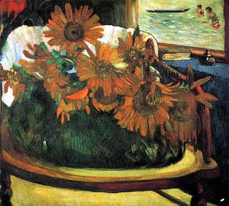 Paul Gauguin - Girasoles en un sillón