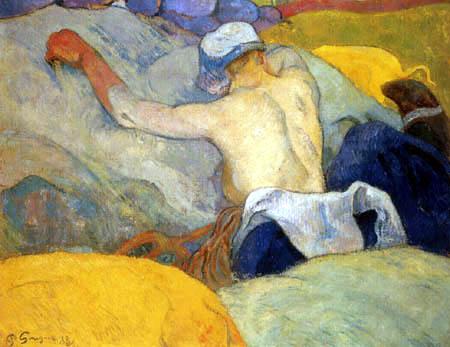 Paul Gauguin - Im Heu bei voller Hitze