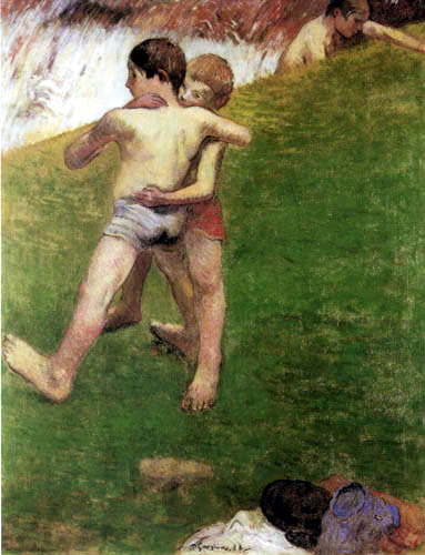Paul Gauguin - Kämpfende Jungen