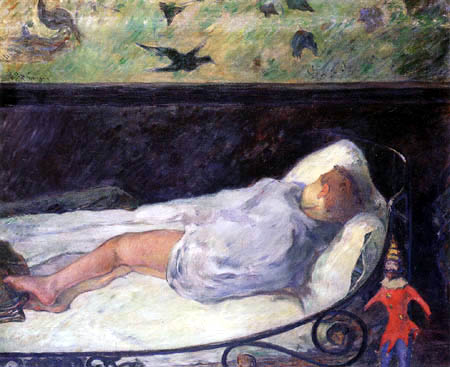 Paul Gauguin - Schlafendes Maedchen