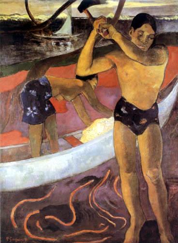 Paul Gauguin - Mann mit Axt
