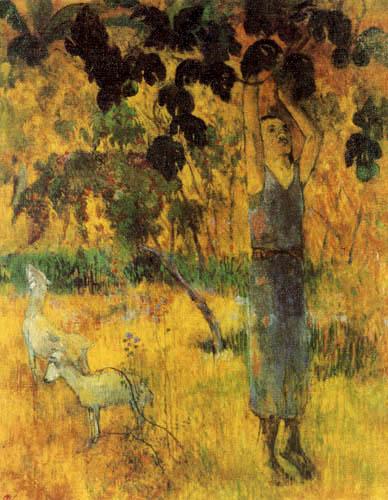 Paul Gauguin - Beim Obstpflücken