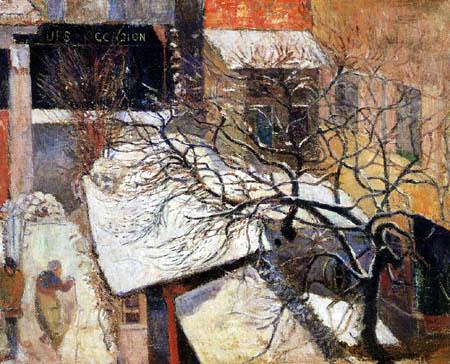 Paul Gauguin - Paris im Schnee