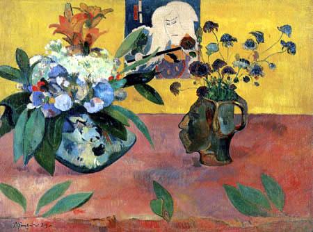 Paul Gauguin - Self-Portrait Jug with flowers