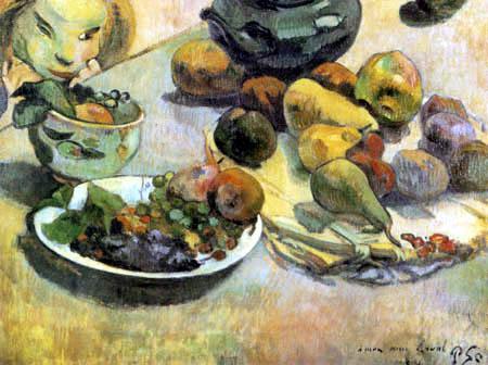 Paul Gauguin - Stilleben mit Früchten