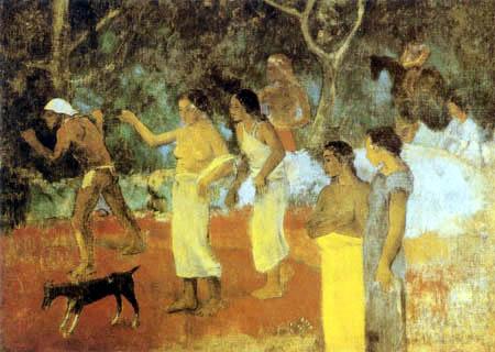 Paul Gauguin - Szene aus dem tahitischen Leben