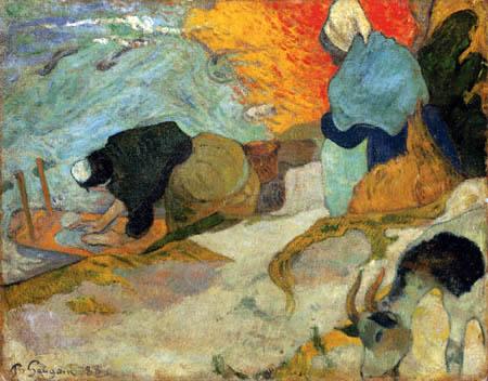 Paul Gauguin - Wäscherinnen am Roi Canal