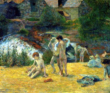 Paul Gauguin - Young breton bathers
