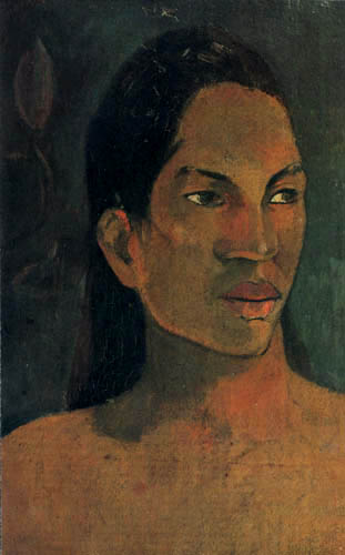Paul Gauguin - Portrait of a woman of Tahiti