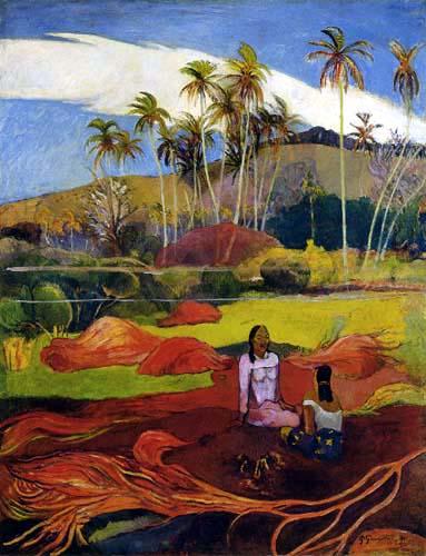 Paul Gauguin - Frauen bei den Palmen
