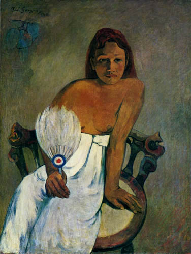 Paul Gauguin - A Woman with Fan