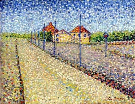 Léo Gausson - Landscape near Lagny