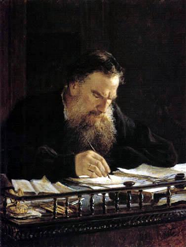 Nikolaj Nikolajewitsch Ge (Gay) - The Writer Leo Tolstoy