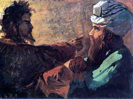 Nikolaj Nikolajewitsch Ge (Gay) - Christus und Nikodemus