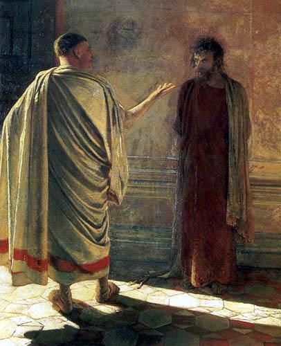 Nikolaj Nikolajewitsch Ge (Gay) - Christus and Pontius Pilate