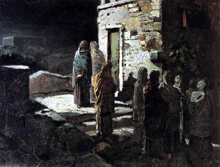 Nikolaj Nikolajewitsch Ge (Gay) - Jésus entre avec ses disciples dans le jardin de Gethsémané