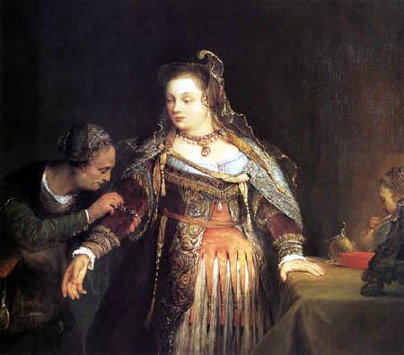 Aert (Arent) de Gelder - Esther with queenly robe
