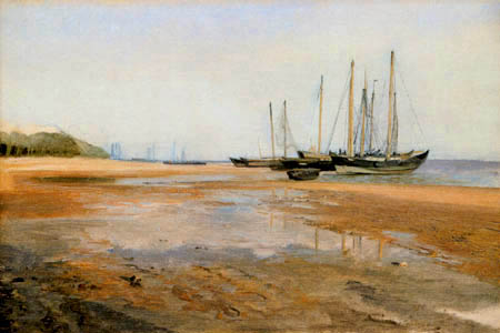 Jacob Gensler - Sculler on the sand at the river Elbe