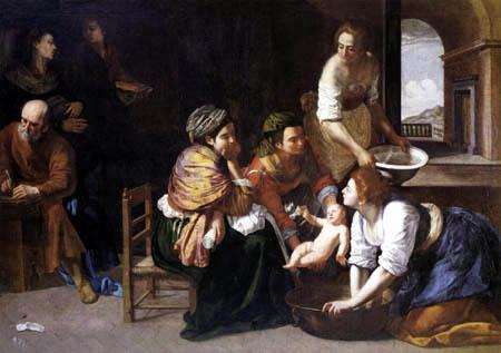 Artemisia Gentileschi - El nacimiento de Juan el Bautista