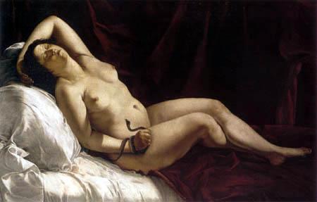 Artemisia Gentileschi - Kleopatra