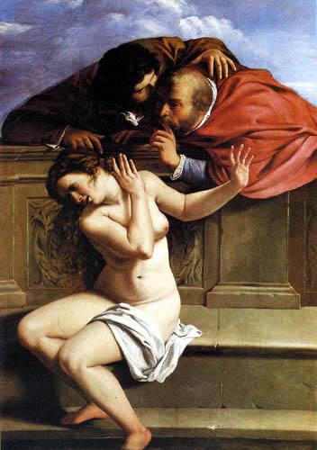 Artemisia Gentileschi - Susanna et les deux vieux hommes