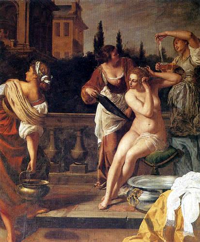 Artemisia Gentileschi - Bathseba im Bade