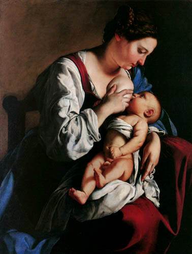 Orazio Gentileschi - A young mother