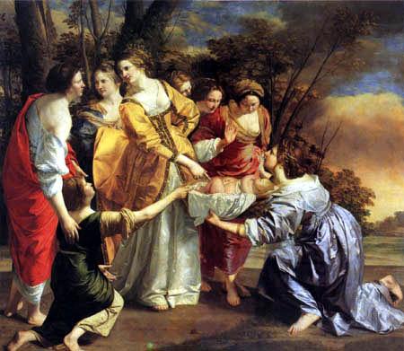 Orazio Gentileschi - Die Errettung Moses