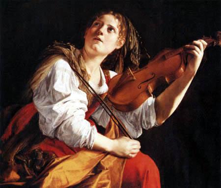 Orazio Gentileschi - The holy Cecilia