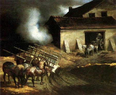 Théodore Géricault - Die Kalkbrennerei