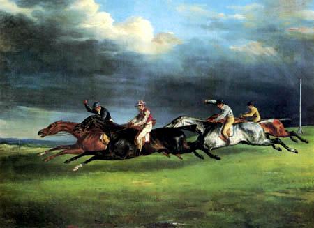 Théodore Géricault - Das Derby von Epsom