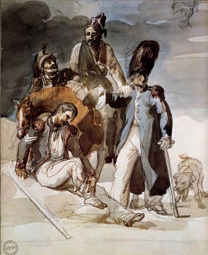 Théodore Géricault - Verwundete Soldaten auf dem Rückzug
