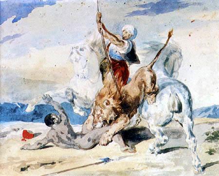 Théodore Géricault - Löwenjagd