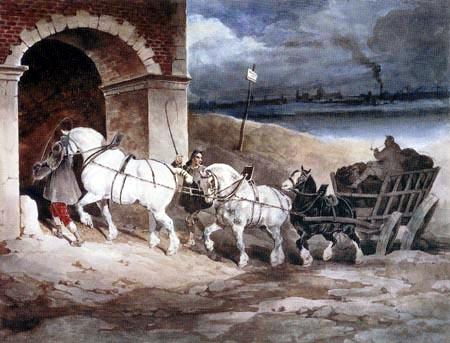Théodore Géricault - Kohlenwagen